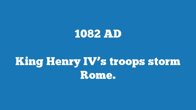 King Henry IV's troops storm Rome.