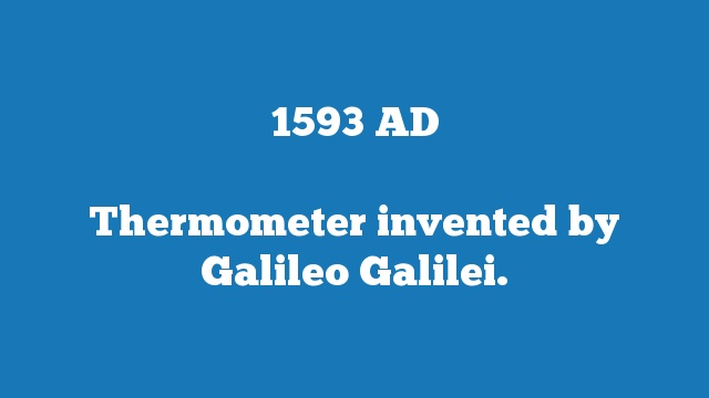 Thermometer invented by Galileo Galilei.