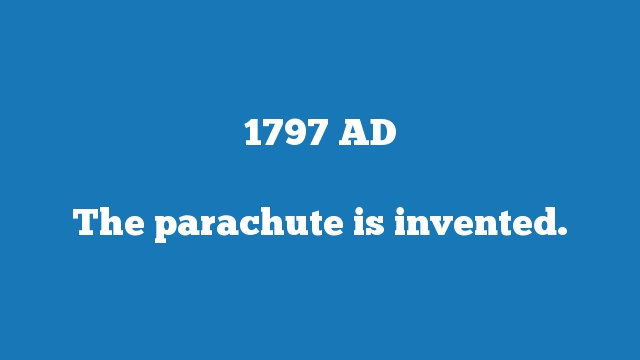 The parachute is invented.