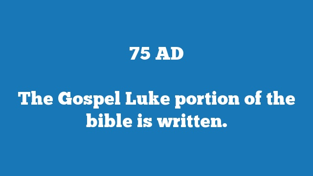 The Gospel Luke portion of the bible is written.
